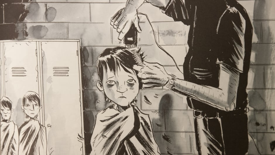 "A still from the graphic novel ""Secret Path,"" written by Gord Downie and illustrated by Jeff Lemire."