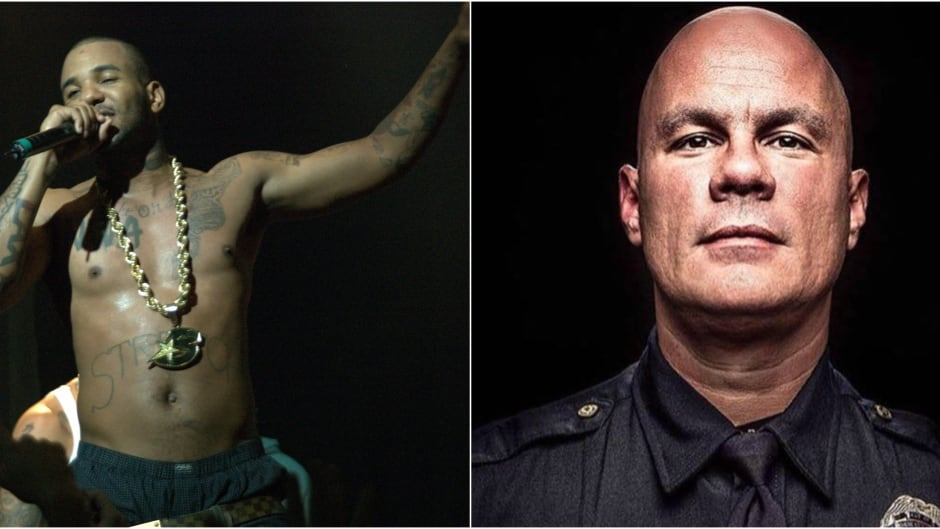The Game (left) helped fund a campaign intended to shine a light on a cop who get's it right, Tommy Norman (right).