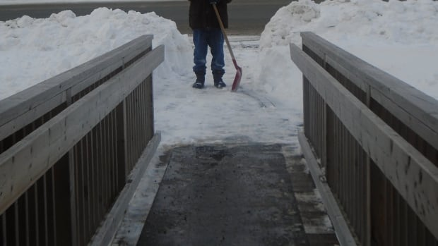 'Access to the outside world' shows the perspective of a person with a disability dealing with winter challenges.