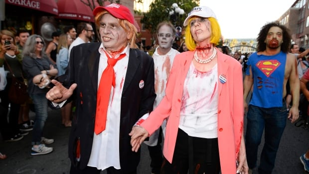 No word on if zombie Donald Trump and zombie Hillary Clinton will be on hand for Montreal's annual Zombie Walk Oct. 29.