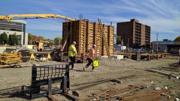 Construction began on Windsor's new city hall this summer. Work should be finished before 2018 municipal election.