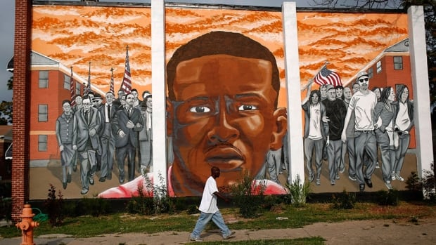 Shadow of Charm City - Freddie Gray mural