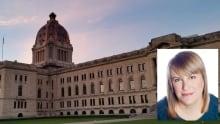 Stefani Langenegger at the Saskatchewan Legislature