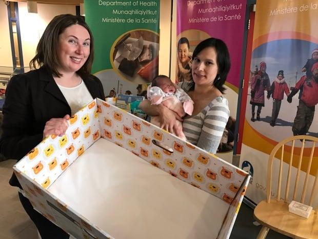 Tara Macaskill, Emily Shoapik and baby