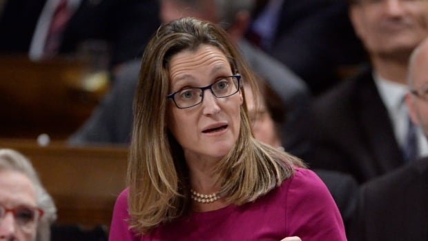 "International Trade Minister Chrystia Freeland was criticized for her display of ""visible emotion"" last week over stalled negotiations for a trade deal with the European Union."