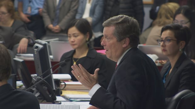 Toronto Mayor John Tory speaks at the city's executive committee meeting Wednesday.