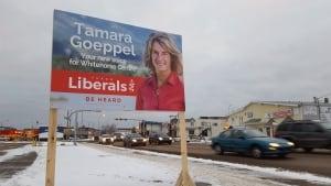 Yukon election sign