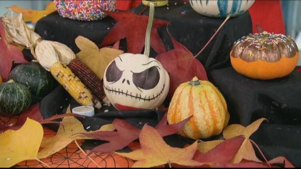 Mei Yu's painted pumpkins