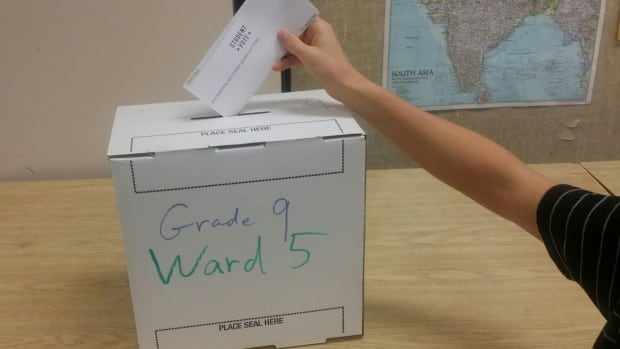 Students across Saskatchewan cast their votes after learning about local governments and the important issues in their communities.