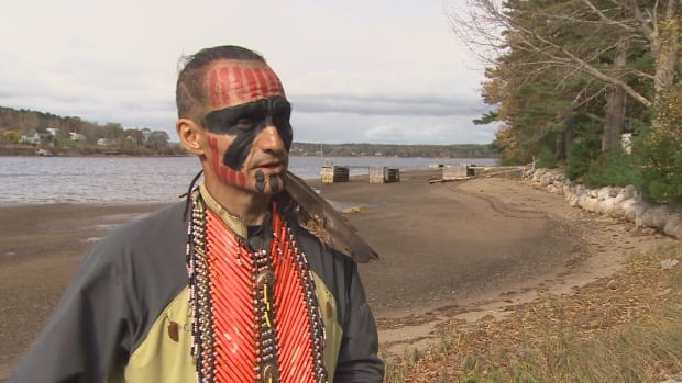 Gwich'in ultra-marathoner Brad Firth, better known as Caribou Legs, during a stop in Nova Scotia.