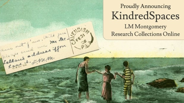 Postcards written by L.M. Montgomery, like this one, are part of the digital collection.