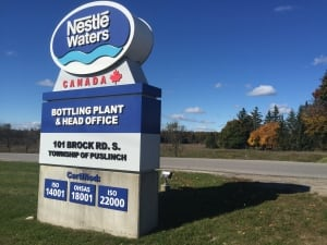 Nestle Waters Sign