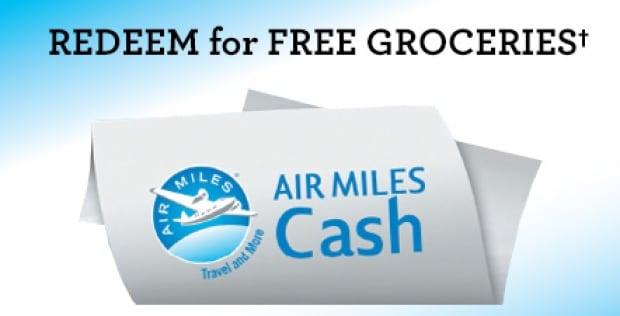 Air Miles cash rewards