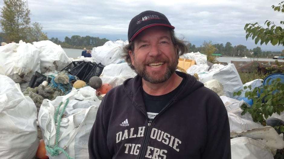 Rob O'Dea managed a cleanup on Vancouver island using a barge and helicopter. He says someone needs to step up and cover the cost of huge shoreline cleanups.
