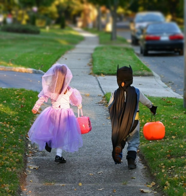 Halloween trick-or-treat children