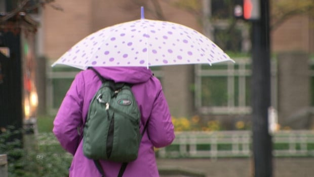Cloudy with 40 per cent chance of showers for Monday morning.