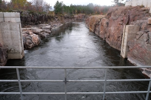 View downstream from Okikendawt Hydro Project