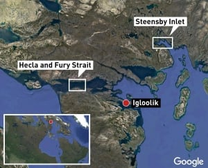 Map of Igloolik area