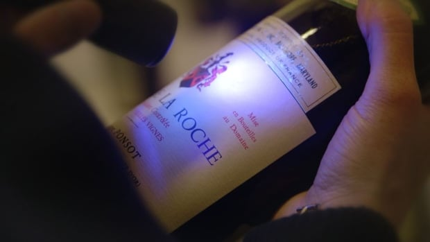 A bottle of Ponsot Clos de la Roch confiscated by the FBI from Rudy Kurniawan's California home in 2012.