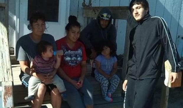 Melinda McIvor and her family on Sandy Bay First Nation