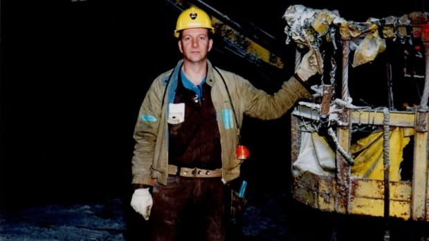 Alan Facchinato in 2002 on the job underground at the Sifto salt mine in Goderich, Ontario.
