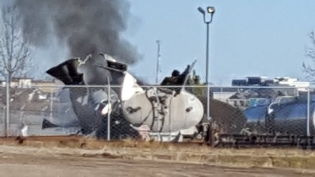 A 35-year-old man is dead after a tanker trailer exploded Thursday in the Burnt Lake Industrial Park, northwest  of Red Deer's city limits.