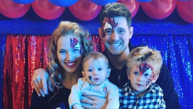 Michael Bublé is seen with his wife, Argentinian actress Luisana Lopilato and his children, three-year-old Noah and 10-month-old Elias.