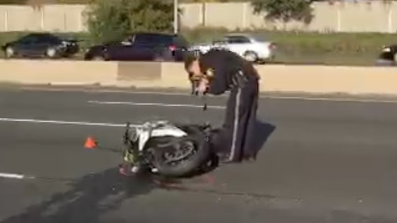 1 dead in motorcycle crash, while QEW Niagara-bound has reopened