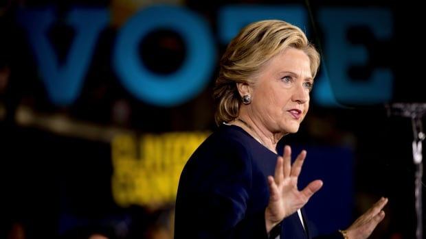 Democratic presidential candidate Hillary Clinton speaks at a rally at Heinz Field in Pittsburgh, Friday, Nov. 4, 2016.