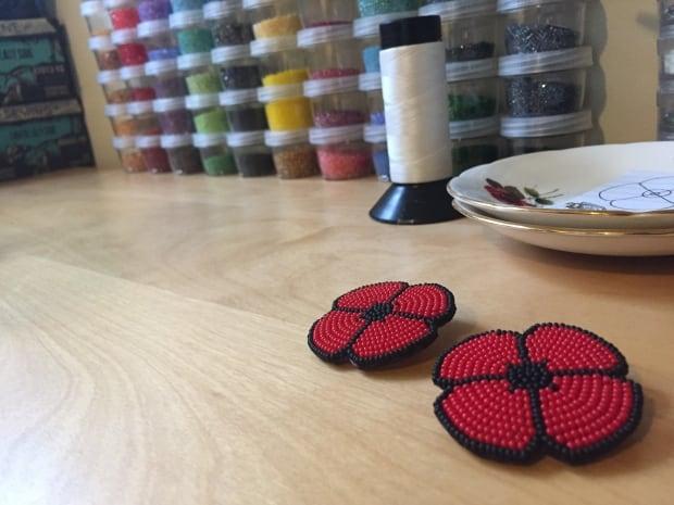 Beaded poppies