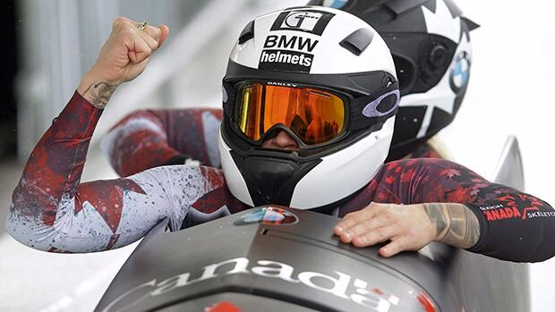 Kaillie Humphries, front, is going for her third consecutive Olympic gold medal, and while Melissa Lotholz, back, is the favourite to be her brakeman in Korea, the job is still up for grabs.