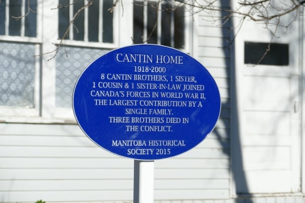 Cantin house plaque