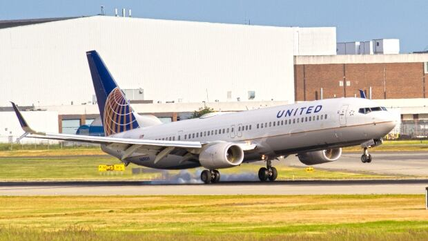 The United Airlines Boeing 737 climbed 122 metres to avoid a collision.