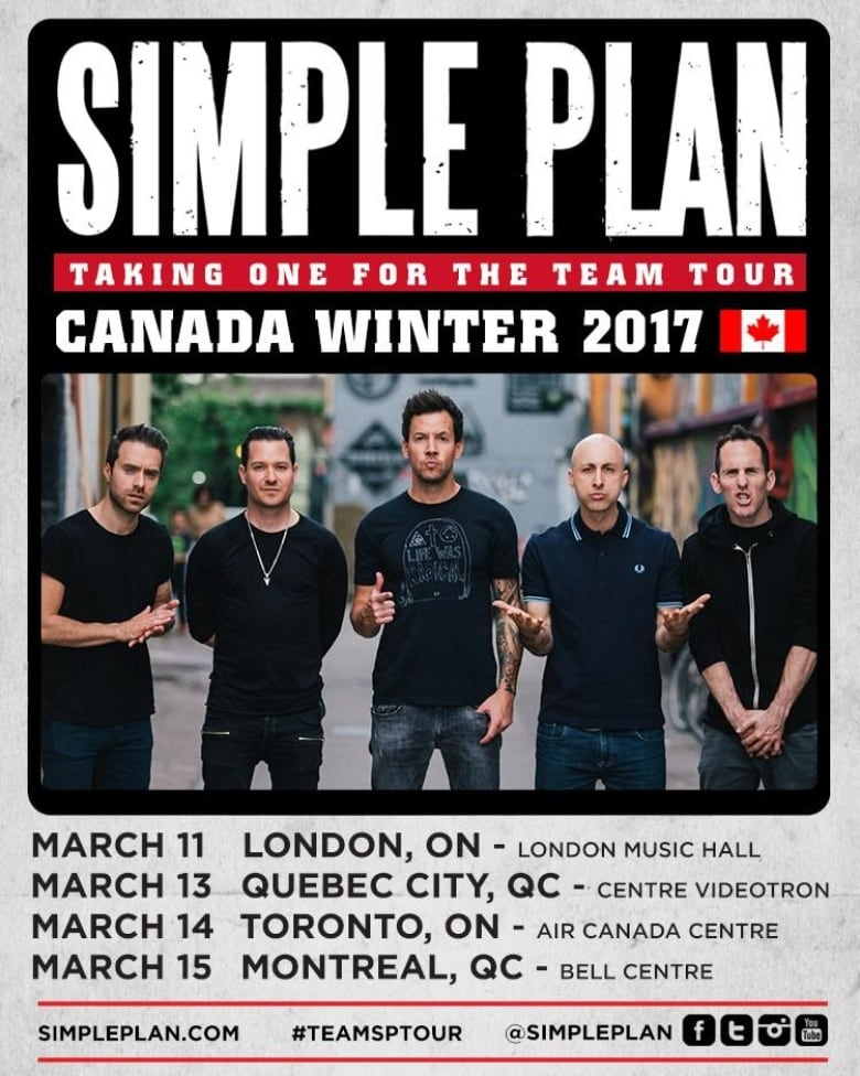 Simple Plan shared this updated tour poster on their ...