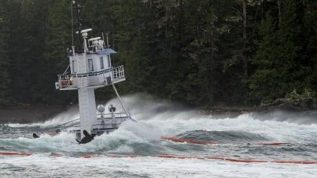 Nathan E. Stewart Diesel Spill from tug near Bella Bella