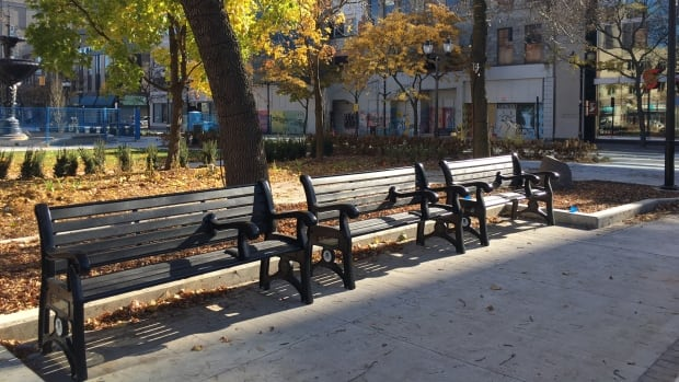 No Sleeping In Redesigned Gore Park  Thanks To New Benches