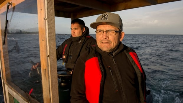 Heiltsuk first responders Collin Reid and Jeff Brown have been monitoring recovery efforts and the spread of leaking fuel from the sunken tugboat Nathan E. Stewart.
