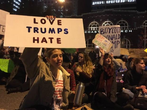 Trump protest Vancouver