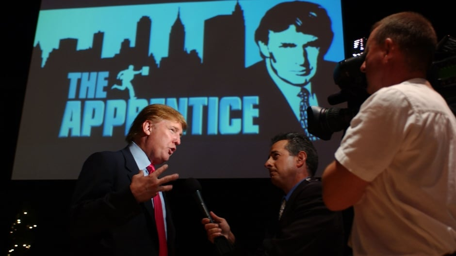 Donald Trump attends the first stop of the 16 city 'The Apprentice' Recruiting Tour on July 9, 2004 at Universal Studios Hollywood in Universal City, California.