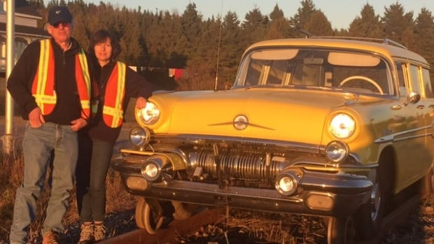 Alan Freed and his wife, Nina Freed, drove around the Gaspé last week in their Hi-Rail.