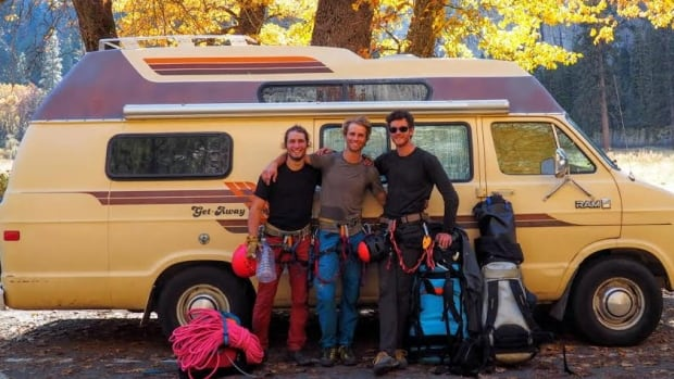 The Choss Boys return to their van after climbing El Capitan, the epic mountain in California's Yosemite National Park.
