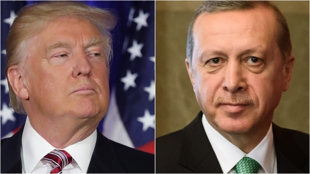 U.S. President Donald Trump, left, and Turkish President Recep Tayyip Erdogan are meeting today at the White House in Washington in what is amounting to an important summit for the NATO allies.