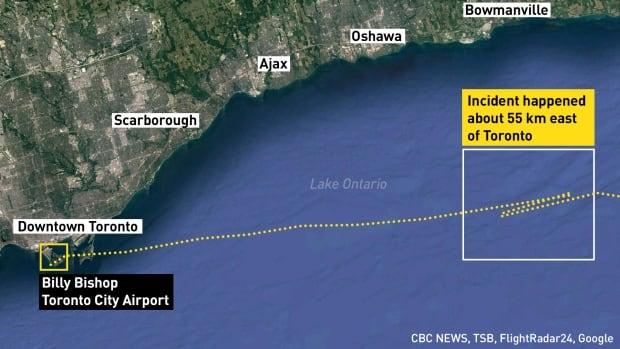 Toronto Porter flight near miss graphic