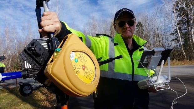 Brian Leahey - defibrillator drone