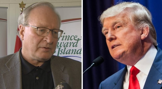 P.E.I. Premier Wade MacLauchlan and Donald Trump