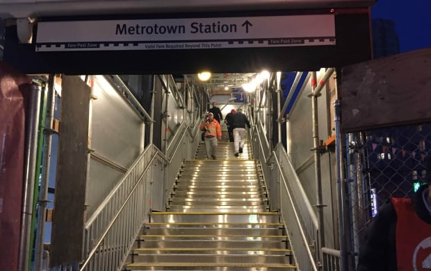 Metrotown stairs