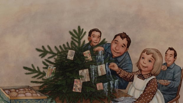 A Year of Borrowed Men tells the story of Gerda, a young girl living on a farm in northern Germany, who befriends three prisoners of war during WW II. Illustration by Renné Benoit.