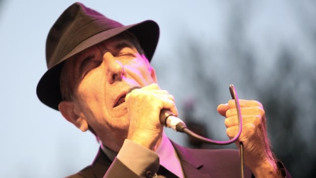 Canadian singer Leonard Cohen performs during the Nice Jazz Festival, on July 22, 2008 in Nice, southern France. AFP PHOTO VALERY HACHE (Photo credit should read VALERY HACHE/AFP/Getty Images)