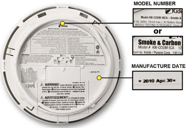Kidde smoke detector carbon monoxide alarm recall