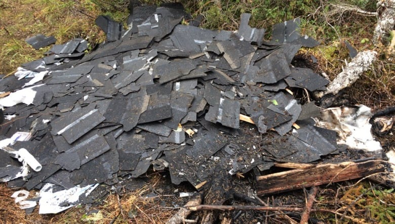 This Pile Of Shingles Were Found Near Stag Lake Which Is